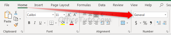 Format of the selected cell in Excel